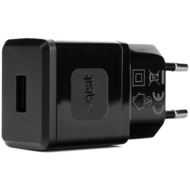 xqisit Travel Charger 2,4A USB schwarz