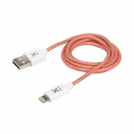 Xtorm USB Lightning Kabel, rot/ weiß