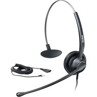 Yealink Headset YHS33 - Monaurales Headset mit NoiseCancelling