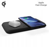 ZENS Dual Wireless Charger 10W mit Netzteil (EU/ UK/ US), Qi, schwarz, ZEDC02BP/ 00