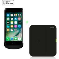 ZENS Wireless Charging Case + Wireless Charger Bundle - Apple iPhone 7/ 6/ 6S - schwarz