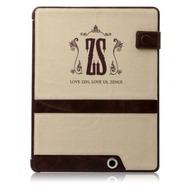 Zenus Masstige Oxford Portfolio für iPad 3 /  4, beige/ braun