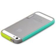 Zenus Walnutt Bumper Trio f�r iPhone 5, green-mint