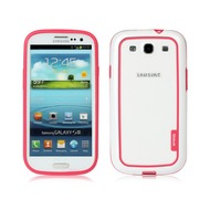 Zenus Walnutt Metro Block für Samsung Galaxy S3, weiß-pink