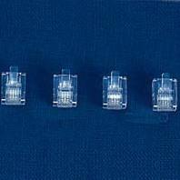 HDK Modularstecker RJ11 6/4 SF für Flachkabel (100 Stück)
