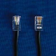 HDK ISDN Anschlusskabel schwarz, 10 m