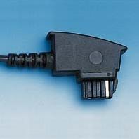 HDK Anschluss-Schnur TAE F -> RJ11,  6m schwarz, dt. Norm