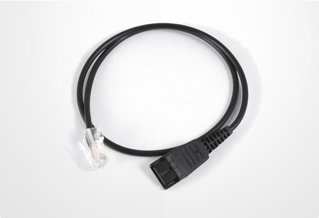 Jabra Headset-Anschlusskabel QD<>RJ45 8-polige Belegung, 0,5m glatt