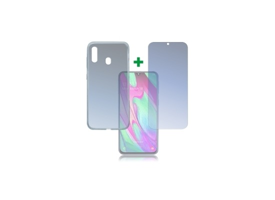 4smarts 360° Protection Set Limited Cover für Samsung Galaxy A40 transparent