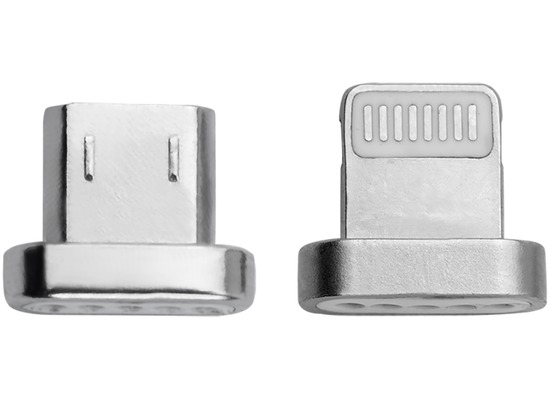 4smarts GRAVITYCord Magnetischer Lightning- & Micro-USB-Stecker, 2-er Pack