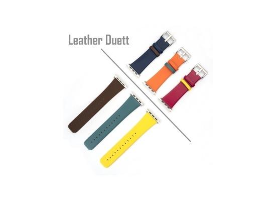 4smarts Leather Duett Armband für Apple Watch Series 4 (40mm) & 3/2/1 (38mm) lila / rosa