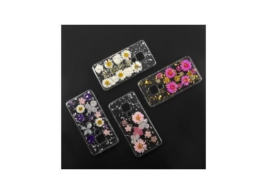 4smarts Soft Cover Glamour Bouquet für Huawei Mate 20 violett/pink/silber
