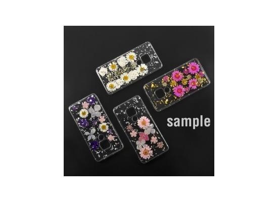 4smarts Soft Cover Glamour Bouquet für Huawei P30 weiße Blumen/silberne Flocken