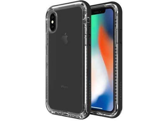 Lifeproof NËXT für Apple iPhone X, Back Case, Black Crystal