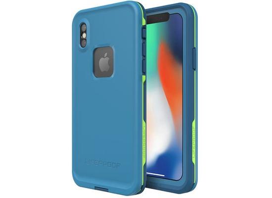 Lifeproof Fre für Apple iPhone X, Wasserdichtes Schutzgehäuse, Banzai blau