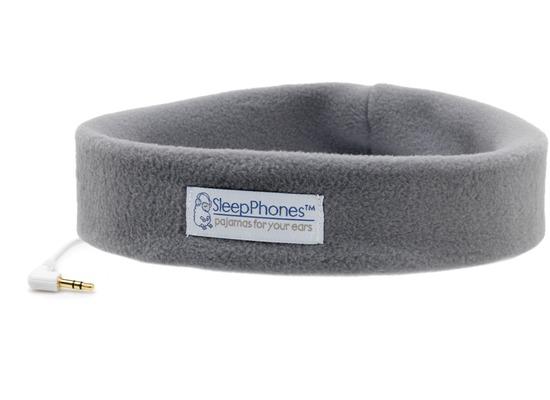 AcousticSheep Stirnband Stereo Kopfhörer SleepPhones (Volume Control), grau