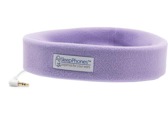 AcousticSheep Stirnband Stereo Kopfhörer SleepPhones (Volume Control), lavendel