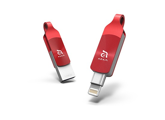 ADAM Elements iKlips DUO+ 128GB rot