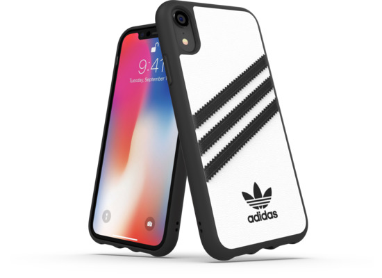 adidas OR Moulded Case PU FW18 for iPhone XR white/black