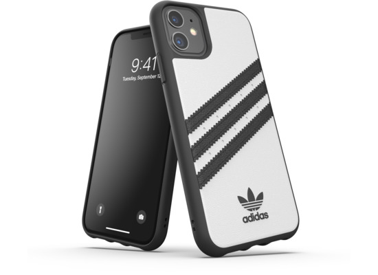 adidas OR Moulded Case PU FW19 for iPhone 11 white/black
