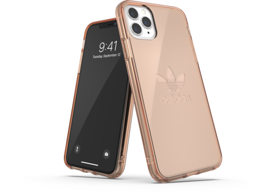 adidas OR Protective Clear Case Big Logo FW19 for iPhone 11 Pro Max rose gold col.