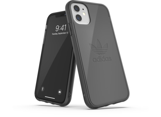 adidas OR Protective Clear Case Big Logo FW19 for iPhone 11 smokey black