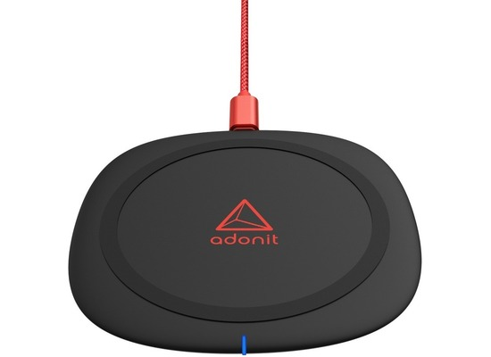 adonit Wireless Fast Charging Pad, 10W, Qi, schwarz