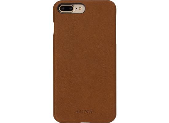 AGNA iPlate Real Leather for iPhone 7 Plus cognac bei telefon.de ... edf09fd6a9c23