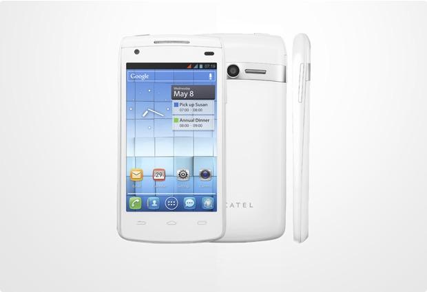 Alcatel onetouch 992D, white matt