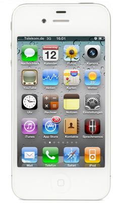 Apple iPhone 4, 16GB, weiß (refurbished)