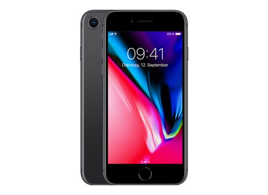 Smartphones, Handys - Apple iPhone 8, 64GB Space Grey  - Onlineshop Telefon.de