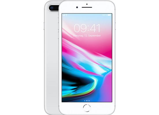 Apple iPhone 8 Plus, 64GB - Silver
