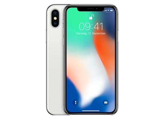Apple iPhone X, 64 GB, Silver
