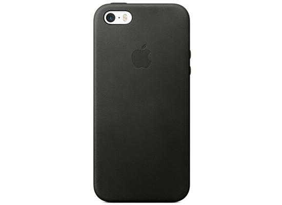 Apple Leder Case für iPhone 5/5S/SE, schwarz