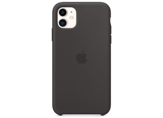 Apple Silikon Case iPhone 11 schwarz
