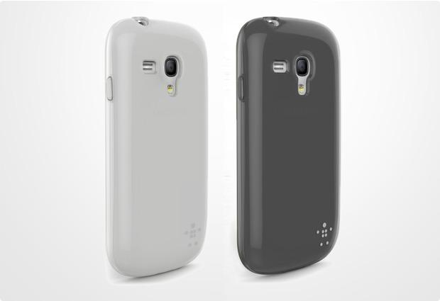 Belkin Grip Sheer für Samsung Galaxy S3 mini (2 Stk.), schwarz/tranparent