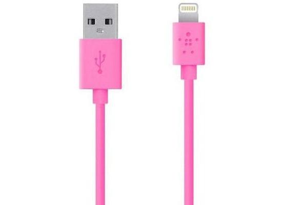 Belkin Lightning Lade/Sync Kabel für Apple 1,2 m, pink