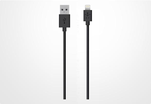 Belkin Lightning Lade/Sync Kabel für Apple 1,2 m, schwarz