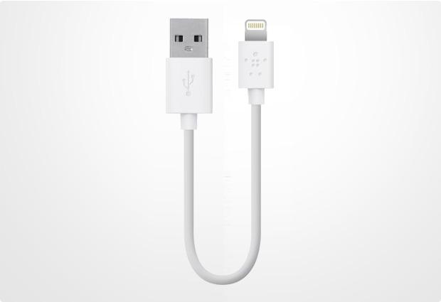 Belkin Lightning Lade/Sync Kabel für Apple 15 cm, weiß