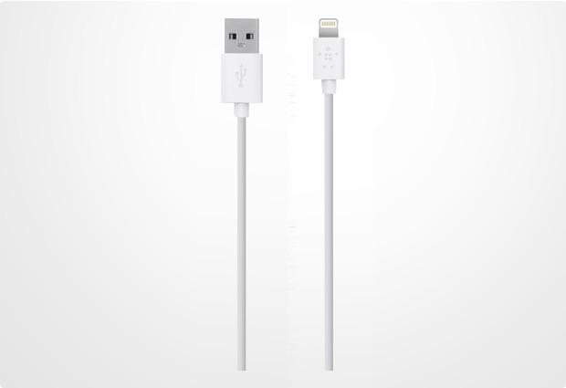 Belkin Lightning Lade/Sync Kabel für Apple 3,0 m, weiß