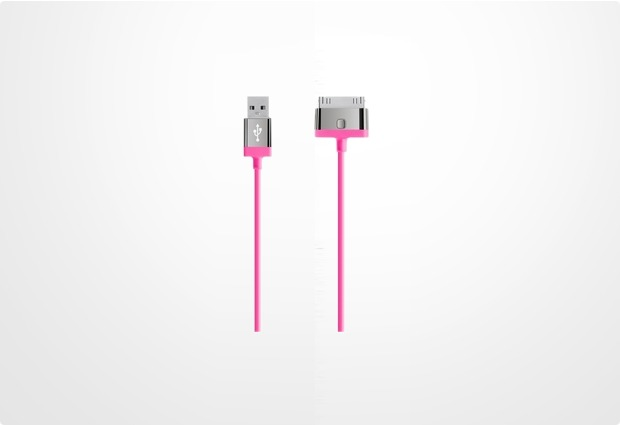 Belkin MIXITup ChargeSync Cable 30-Pin, pink