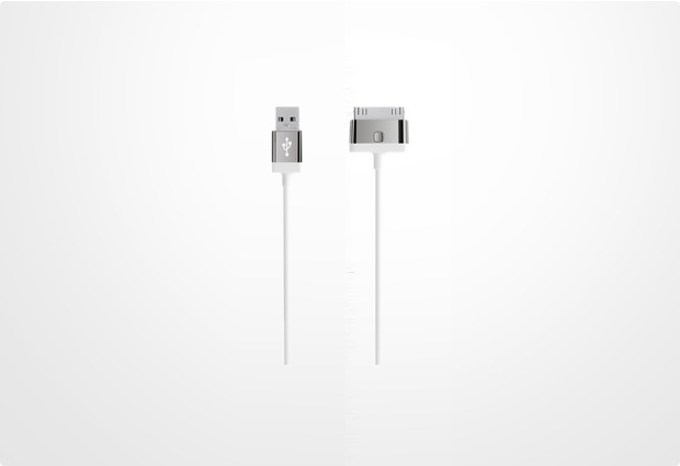 Belkin MIXITup ChargeSync Cable 30-Pin, weiß