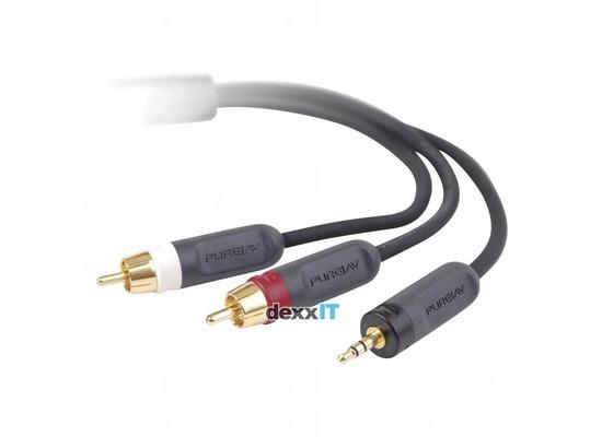 Belkin Y-Splitter Kabel - 3.5mm Klinke/2 Cinch - 2.00m