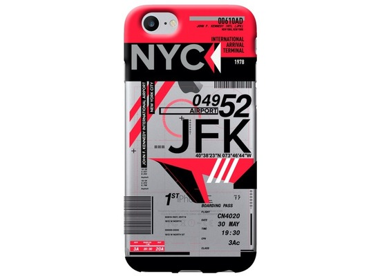 Benjamins AirPort New York (John F. Kennedy) - Silikon Cover - Apple iPhone 7 / 8