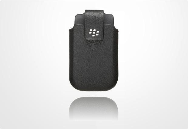 Blackberry Lederholster mit Drehclip für Torch 9800 / 9810, schwarz