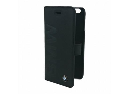 bmw ledertasche im bookstyle f r iphone 6 schwarz bei. Black Bedroom Furniture Sets. Home Design Ideas