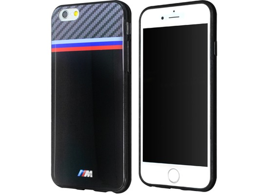 bmw tpu case tricolor f r apple iphone 6 6s black carbon. Black Bedroom Furniture Sets. Home Design Ideas