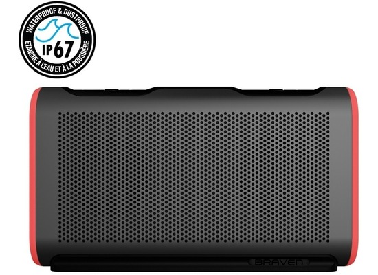 Braven Stryde Active Series Bluetooth-Lautsprecher, 4400mAh, IP67, grau/rot