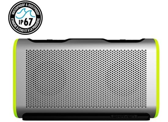 Braven Stryde Active Series Bluetooth-Lautsprecher, 4400mAh, IP67, silber/grün