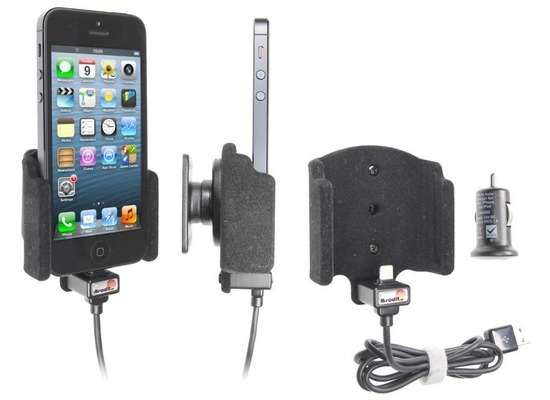 brodit apple iphone se kfz autohalterung mit usb. Black Bedroom Furniture Sets. Home Design Ideas